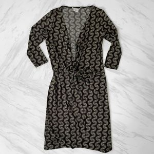 Maggy London Patterned Wrap Dress